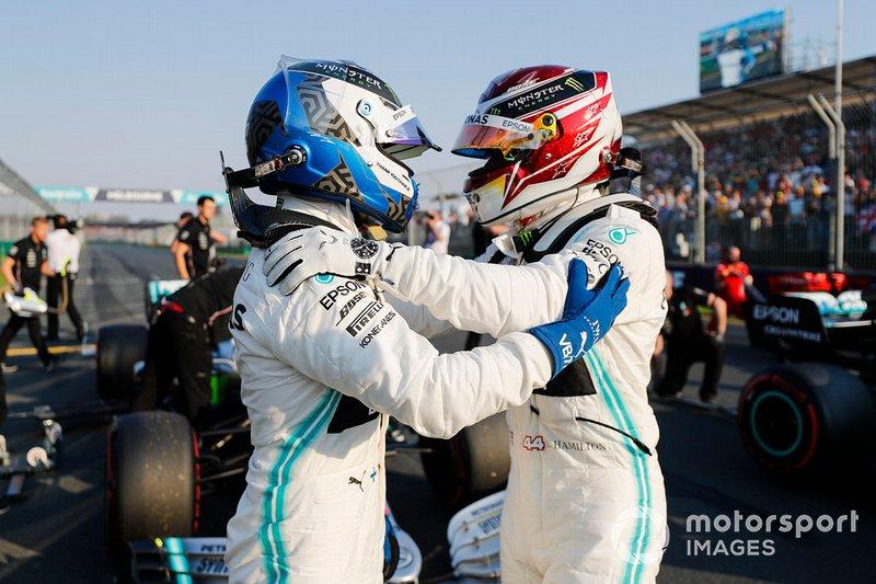 Pole Sitter Lewis Hamilton, Mercedes AMG F1, Valtteri Bottas, Mercedes AMG F1