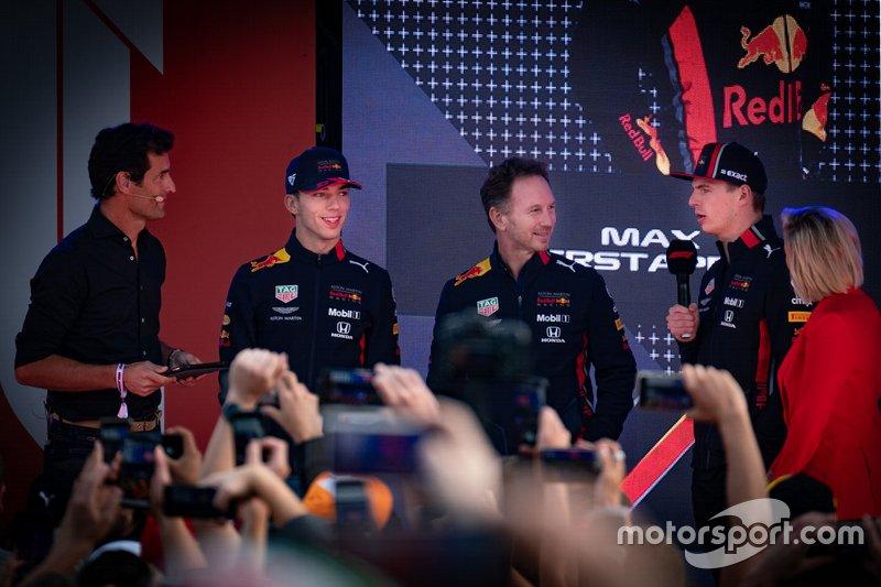 Mark Webber, Pierre Gasly, Red Bull Racing, Max Verstappen, Red Bull Racing, Christian Horner, Red Bull Racing Team Principal