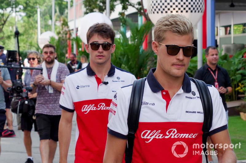 Marcus Ericsson, Sauber and Charles Leclerc, Sauber