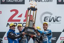 Podium: winners Mike di Meglio, Niccolo Canepa, David Checa