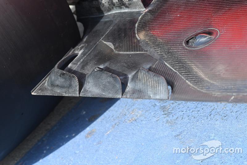 Ferrari SF70H, detalle de la parte trasera del piso
