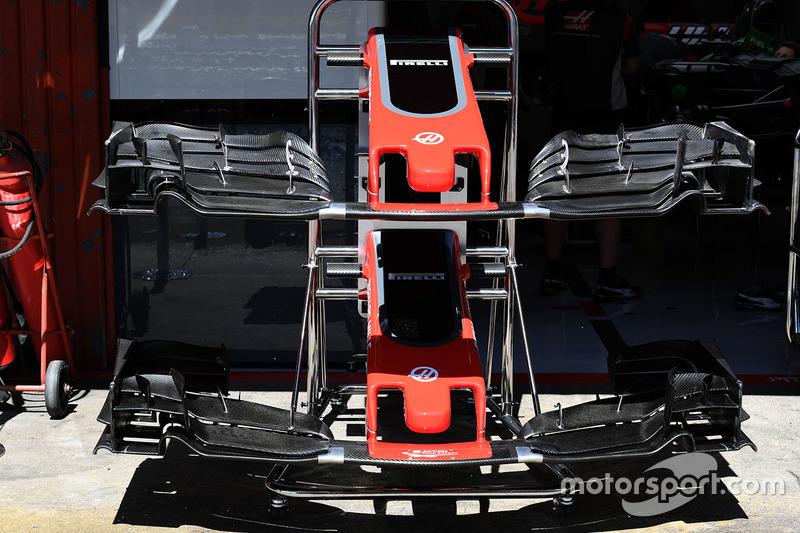 Носовой обтекатель и переднее антикрыло Haas F1 Team VF-17