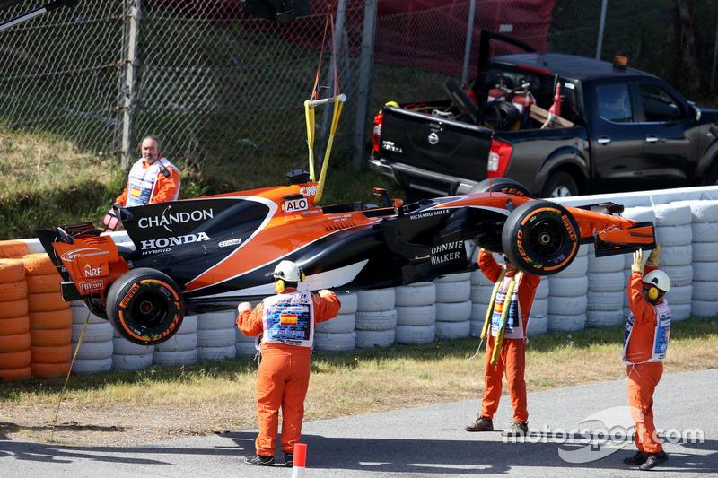 El coche de Fernando Alonso, McLaren MCL32