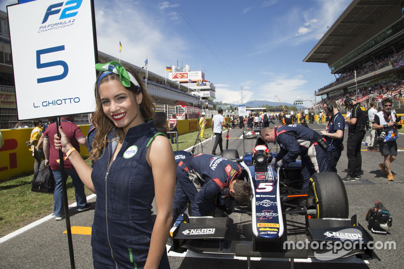 The grid girl of Luca Ghiotto, RUSSIAN TIME
