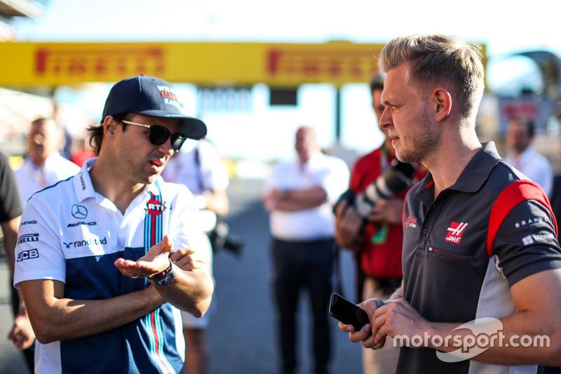 Felipe Massa, Williams and Kevin Magnussen, Haas F1