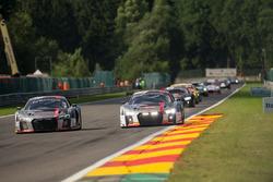 #5 Audi Sport Team WRT Audi R8: Marcel Fässler, Dries Vanthoor, Will Stevens, #76 Audi Sport Team ISR Audi R8 LMS: Pierre Kaffer, Kelvin van der Linde, Frank Stippler