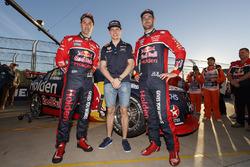 Max Verstappen, Red Bull Racing; Jamie Whincup, Triple Eight Race Engineering, Holden; Shane van Gisbergen, Triple Eight Race Engineering, Holden