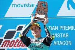 Podium: race winner Joan Mir, Leopard Racing