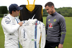 Felipe Massa, Williams con il calciatore del Chelsea FC Eden Hazard