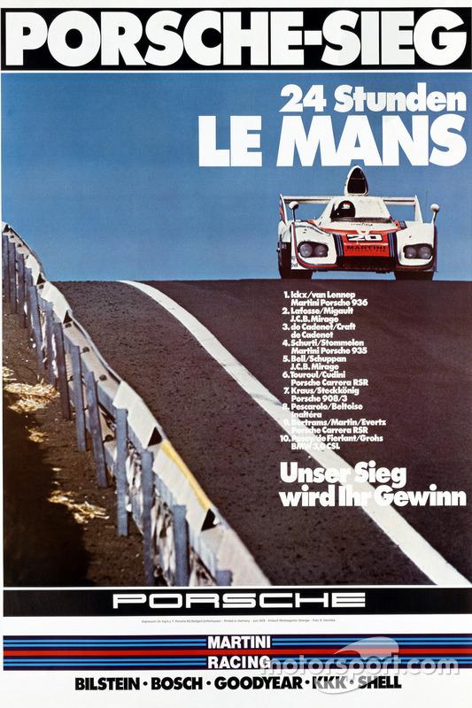 Poster Porsche 24h de Le Mans 1976