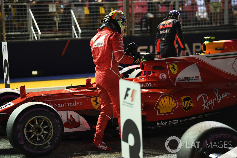 Polesitter Sebastian Vettel, Ferrari SF70H