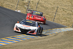 #43 RealTime Racing Acura NSX GT3: Ryan Eversley, #99 Gainsco/Bob Stallings Racing McLaren 650S GT3: Jon Fogarty