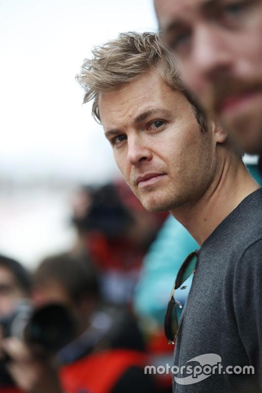 Nico Rosberg visits the paddock