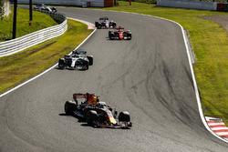 Daniel Ricciardo, Red Bull Racing RB13, Valtteri Bottas, Mercedes AMG F1 W08, Sebastian Vettel, Ferrari SF70H, Sergio Perez, Sahara Force India F1 VJM10