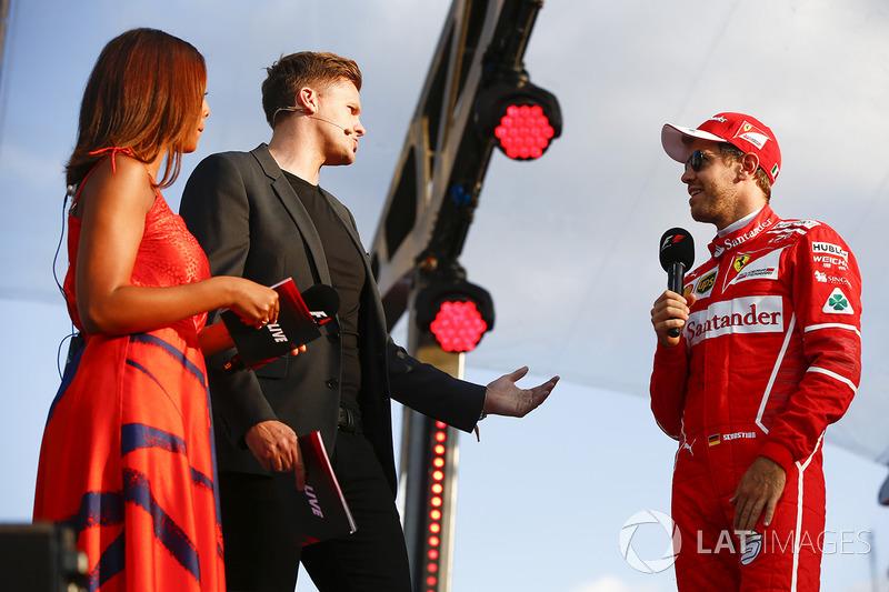 Jake Humphrey, Sebastian Vettel, Ferrari