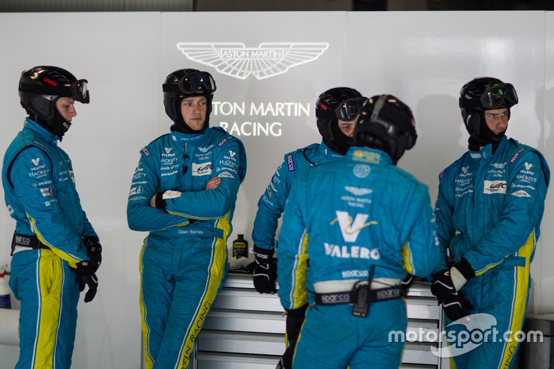 Aston Martin Racing team members