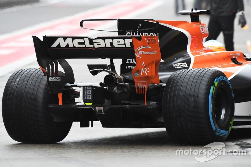 McLaren MCL32, Heckflügel, Detail