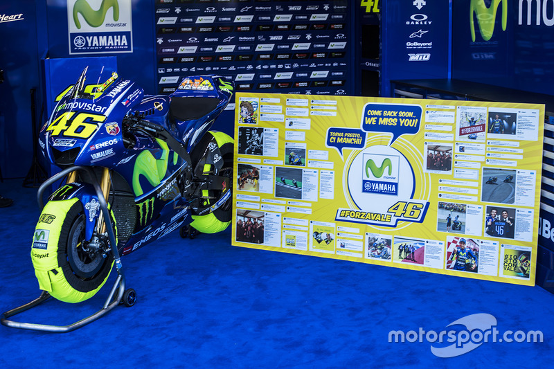 The bike of Valentino Rossi, Yamaha Factory Racing