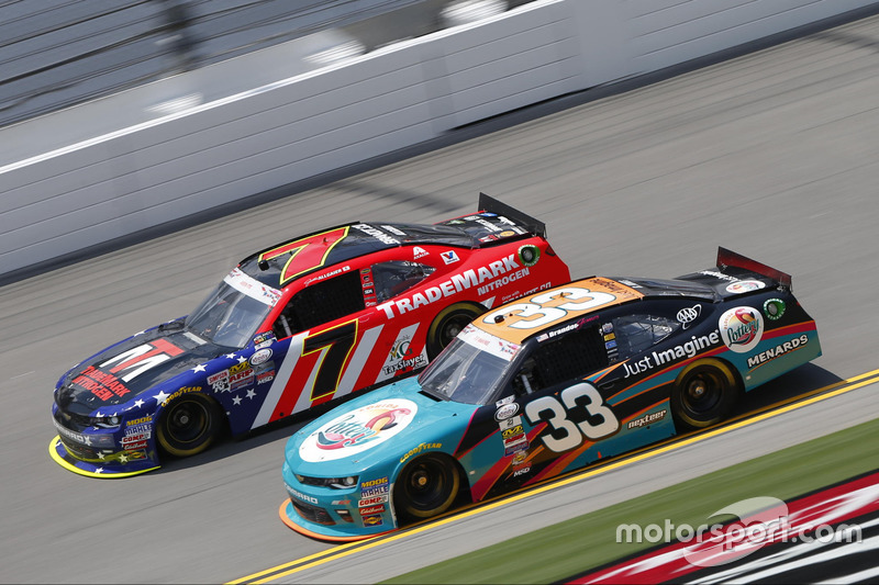 Brandon Jones, Richard Childress Racing Chevrolet, Justin Allgaier, JR Motorsports Chevrolet