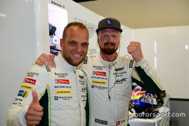 LM GTE Pro pole: #95 Aston Martin Racing Aston Martin Vantage GTE: Marco Sorensen, Nicki Thiim