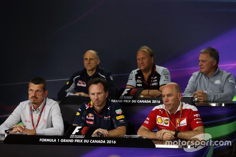 The FIA Press Conference (From back row (L to R)): Franz Tost, Scuderia Toro Rosso Team Principal; R