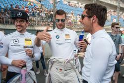 having fun at the grid, Maximilian Götz, Mercedes-AMG Team HWA, Mercedes-AMG C63 DTM, Martin Tomczyk, BMW Team Schnitzer, BMW M4 DTM, Daniel Juncadella, Mercedes-AMG Team HWA, Mercedes-AMG C63 DTM