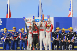 Podium: winners Pierre Thiriet, Mathias Beche, Mike Conway, Thiriet by TDS, second place Stefano Coletti, Julian Leal, Andreas Wirth, SMP Racing, third place Henrik Hedman, Nicolas Lapierre, Ben Hanley, Dragonspeed