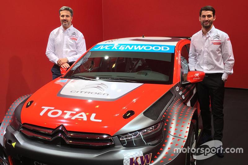 Yvan Muller y José María López con el Citroën C-Elysée 2016