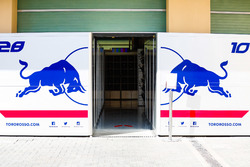 Stands de Pierre Gasly, Scuderia Toro Rosso et Brendon Hartley, Scuderia Toro Rosso