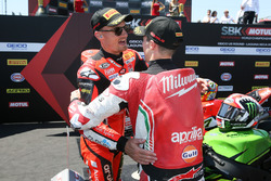 Chaz Davies, Aruba.it Racing-Ducati SBK Team, Eugene Laverty, Milwaukee Aprilia
