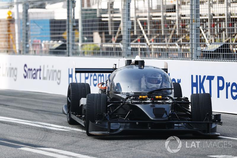 Roborace car test run