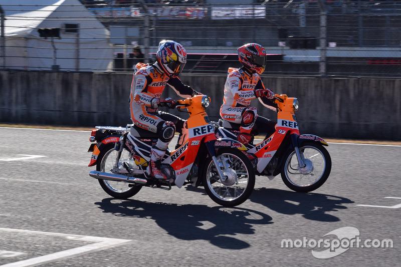 Dani Pedrosa, Marc Marquez, Super Cub race