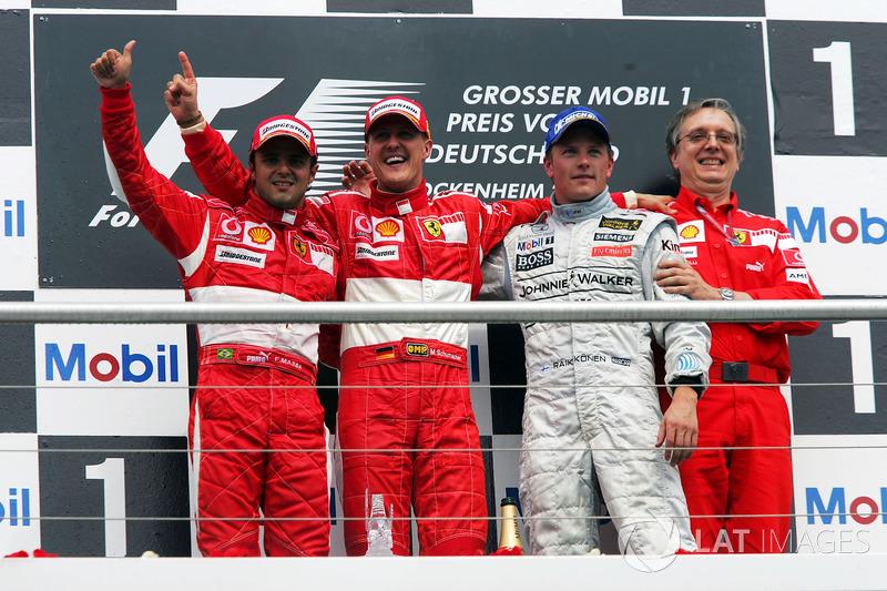 2006: 1. Michael Schumacher, 2. Felipe Massa, 3. Kimi Raikkonen