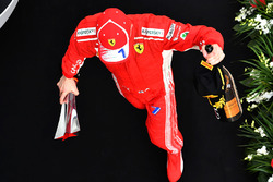 Kimi Raikkonen, Ferrari festeggia sul podio