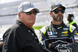 Jimmie Johnson, Hendrick Motorsports Chevrolet Camaro and Rick Hendrick