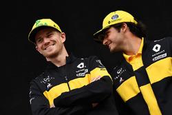 Nico Hulkenberg, Renault Sport F1 Team and Carlos Sainz Jr., Renault Sport F1 Team