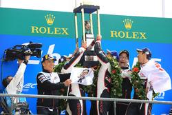 Overall podium celebrations