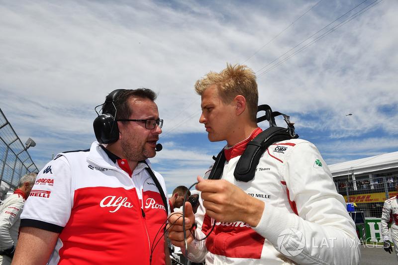 Marcus Ericsson, Sauber, in griglia