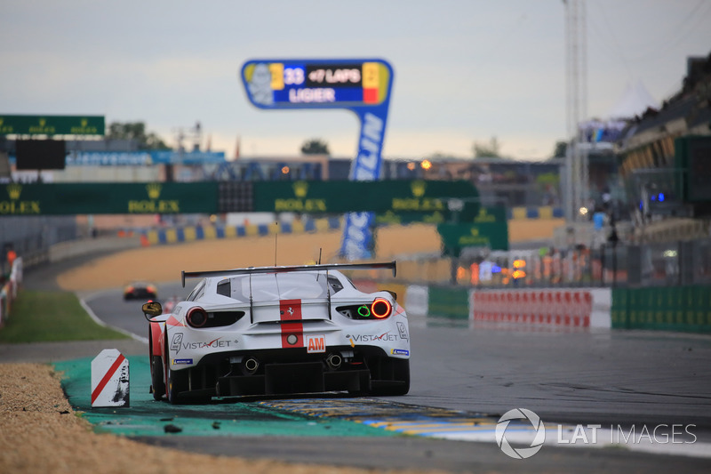 New teammates for Fisico in 2018 at Le Mans with Thomas Flohr and Castellaci but another class podium in the end for the Italian.