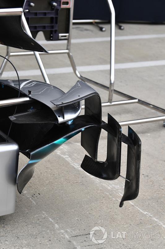 Un déflecteur de Mercedes-AMG F1 W09