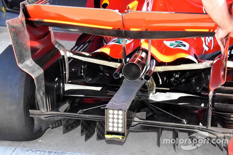 Ferrari SF71H parte trasera y difusor