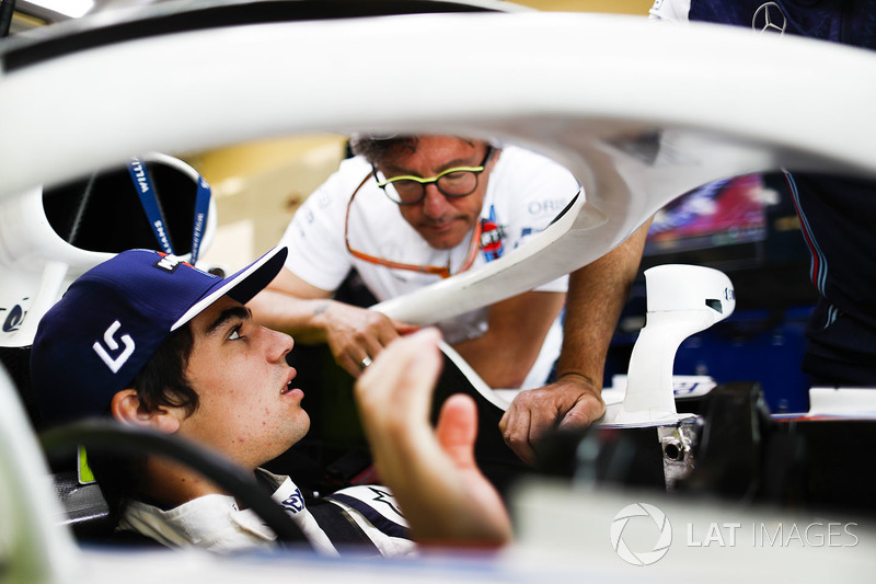Lance Stroll, Williams Racing, and Luca Baldisserri, Engineer, Williams F1