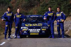 Luis Moya, Derek Ringer, Colin McRae, Carlos Sainz, Subaru Impreza
