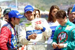 Le vainqueur Ricardo Zonta, le deuxième Franck Montagny, et le troisième Rafael Sarandeses