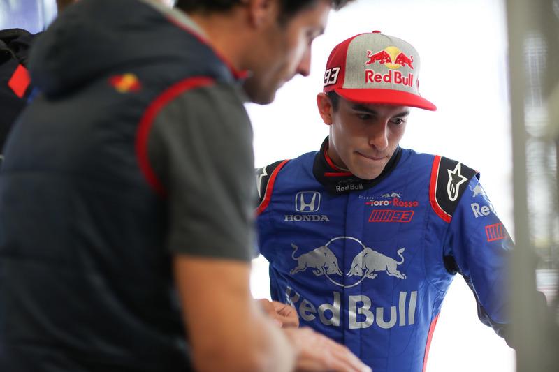 Marc Marquez, prueba el Toro Rosso de F1