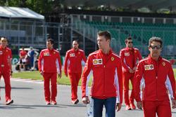 Daniil Kvyat, Ferrari walks the track