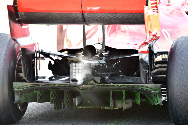 Ferrari SF-71H rear diffuser and aero paint