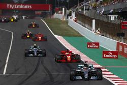 Lewis Hamilton, Mercedes AMG F1 W09, Sebastian Vettel, Ferrari SF71H, Valtteri Bottas, Mercedes AMG F1 W09, Kimi Raikkonen, Ferrari SF71H,Max Verstappen, Red Bull Racing RB14, Daniel Ricciardo, Red Bull Racing RB14