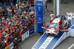 Les vainqueurs Ott Tanak, Martin Järveoja, Toyota Yaris WRC, Toyota Gazoo Racing