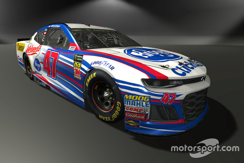 A.J. Allmendinger, JTG Daugherty Racing, Chevrolet Camaro - NASCAR Heat 3 skin